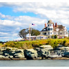 Coming into Newport, RI while on Friends of Flying Santa Lighthouse Cruise.